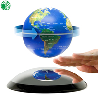 Christmas gift decoration ornament auto free rotation levitation magnetic floating world globe