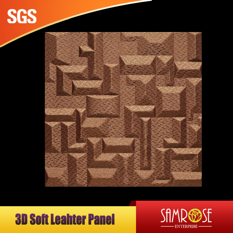 3d leather wall protector Textured surface panels leather wainscot (Magnificient)