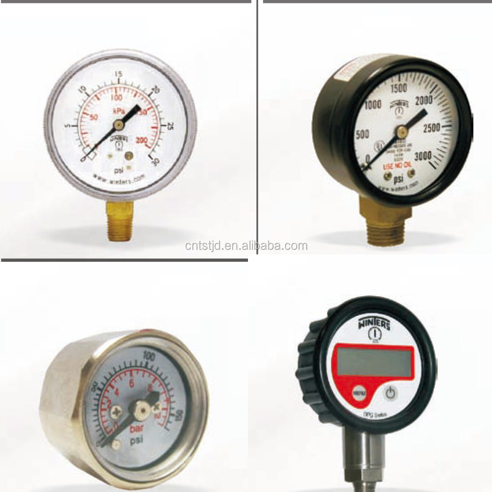 Winters pressure measuring instruments bourdon tube pressure gauges(not fillable)