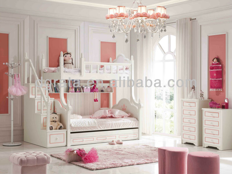 2013 moderne barbie rose lit superpos ensemble pour filles est faite par e1 mdf ensemble de. Black Bedroom Furniture Sets. Home Design Ideas