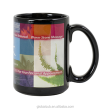 11oz black sublimation mug with white patch indigenous products for sublimation