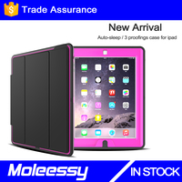 Ultra Thin Magnetic Smart Cover & Clear Back Case For Apple iPad 2 iPad 3 iPad 4