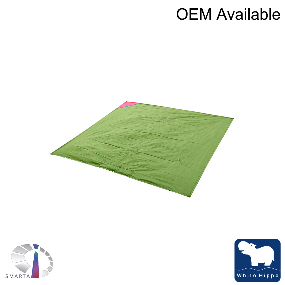 Waterproof Sand Proof Mini Pocket Portable Foldable Package Beach Picnic Blanket Multi-functional Beach Camping Mat and Raincoat