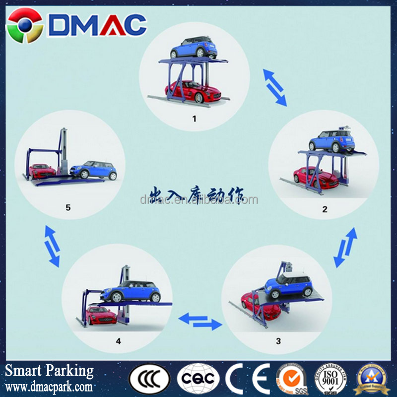 DMAC new type smart car lift automatic rotary 3d non avoiding parking lift