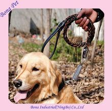 Wholesale Handmade Braided Leather Dog Leashes and Collars