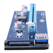 PCI-E 1X to 16X pcie Riser Card 60CM usb 3.0 Extension VER 007S,60cm PCIE Mining Card Adapter for BitCoin minig
