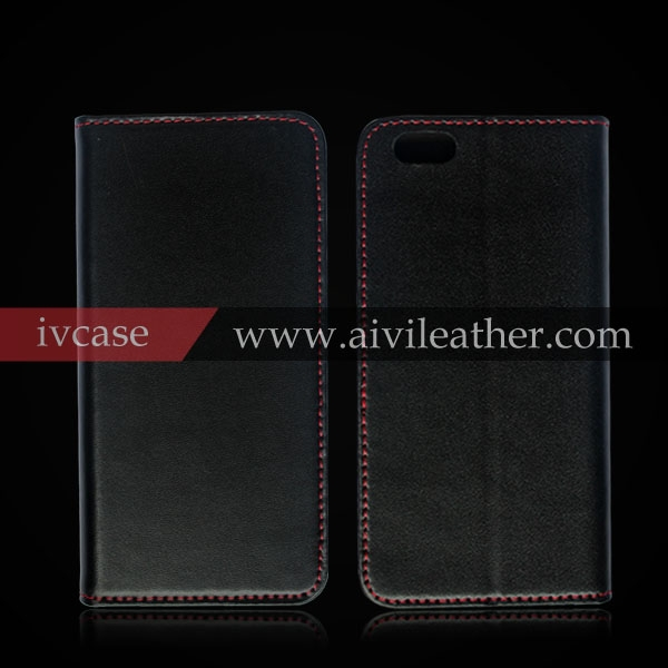 high quality italian leather wallet cell phone cover for iphone 6 folio business card slots case