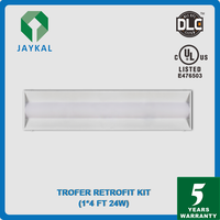 recessed LED troffer 1X4