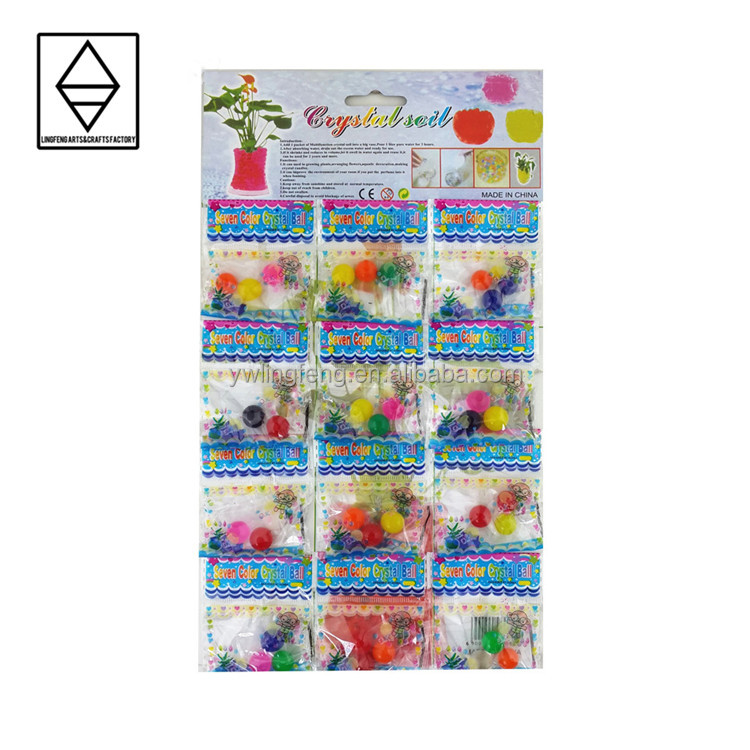LF-110-12 linkfun 10-12 mm crystal boll 4-5cm large water beads colorful crystal soil water beads