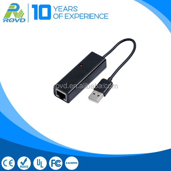 Black shell USB 2.0 to RJ45 lan network adapter for tablet