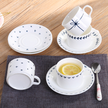 European Trend style ceramic coffee cup set with saucer Pottery coffee mug