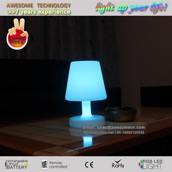 rechargeable cordless table lamp blue zhongshan