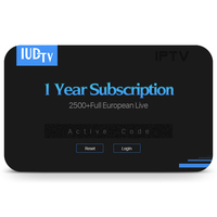 IUDTV 1 Year IPTV APK Account Android TV Box APK for Spanish TV Box