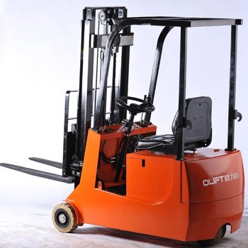 Electric 3 Wheels Forklift Truck for Warehouse Storage Rack