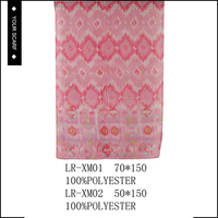 Wholesale soft new design nice-looking pink background scarf