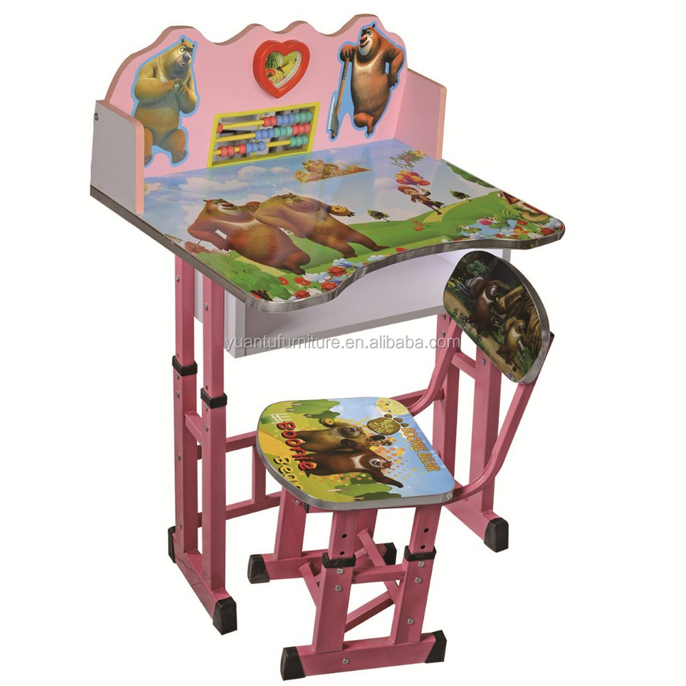 Adjustable baby furniture kids desk and chair set,XD-306