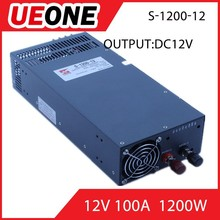 1200w power supply two years warranty sinle output 12v 100a s-1200-12 switch mode power supply