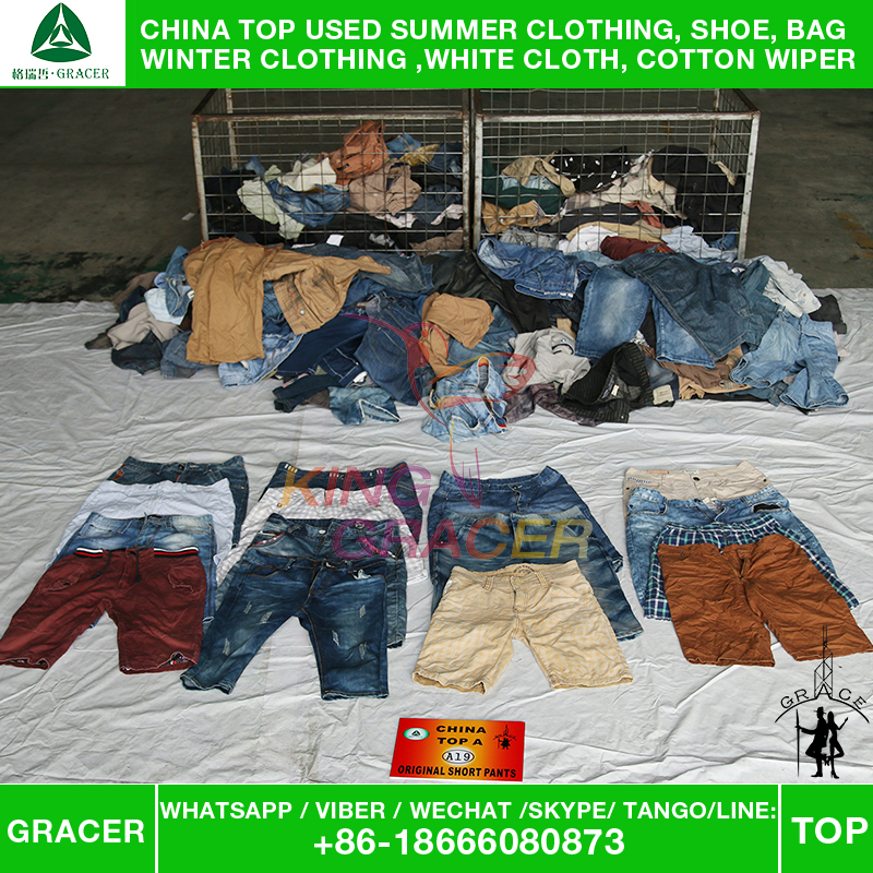Export Bundle Los Angeles style Men Short Pants Wholesale Used Clothing hot sale In Toronto