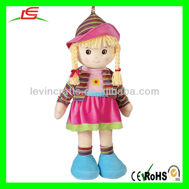 Fashionable Doll with Hat and Cloth Baby Dolls Toys Wholesale