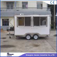 JX-FS350 Jiexian outdoor caravan travel trailer Fast food trailer mobile caravan kitchen for sale