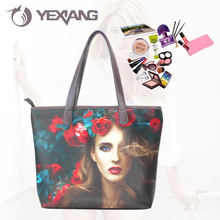 Microfiber Environmental PU OEM Design Purse Shoulder Bag Custom Tote Bag