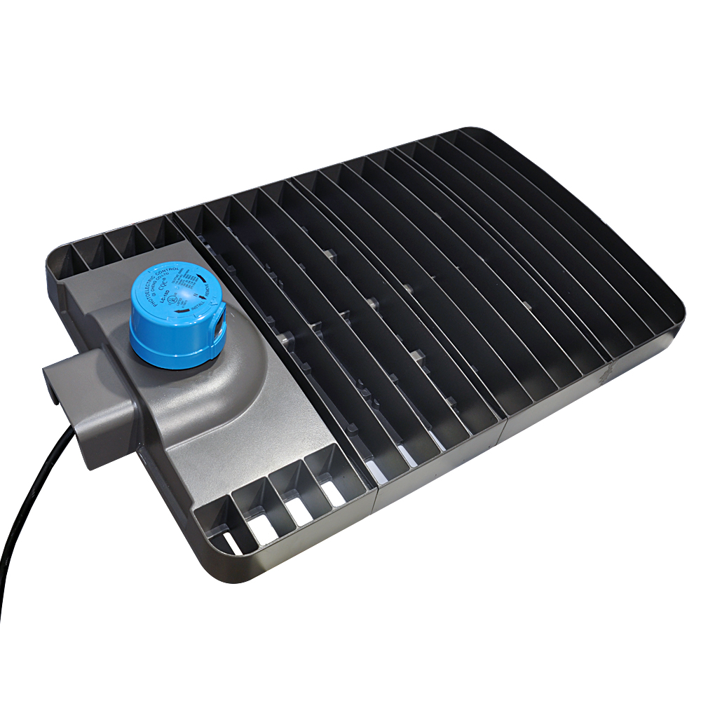Zhongshan led parking lot light 80w 100w 300w shoebox ul dlc certificate for hotel school office car parking lot