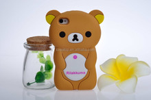 Cute silicone cartoon Rilakkuma phone case