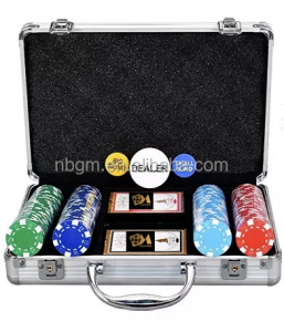 100pcs -200PCS 11.5g Dice Poker Chip Set with transparent Aluminum case