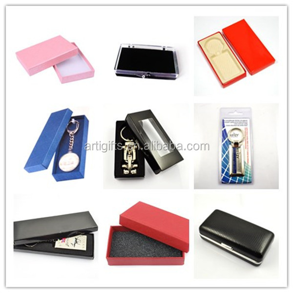 Factory direct sale custom metal enamel funky keychains with gift box