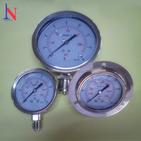 Glycerine Filled Bar and Psi Bourdon Pressure Gauge Manometer
