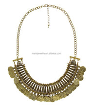 WLXL-1020 Small Order Factory Wholesale Yiwu Hot-selling Fashion China Folk Handicrafts Vintage Golden Silver Ethnic Necklace
