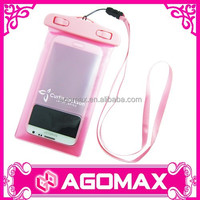 Certificated IPX8 10M & 30 MIN portable waterproof handphone pouch