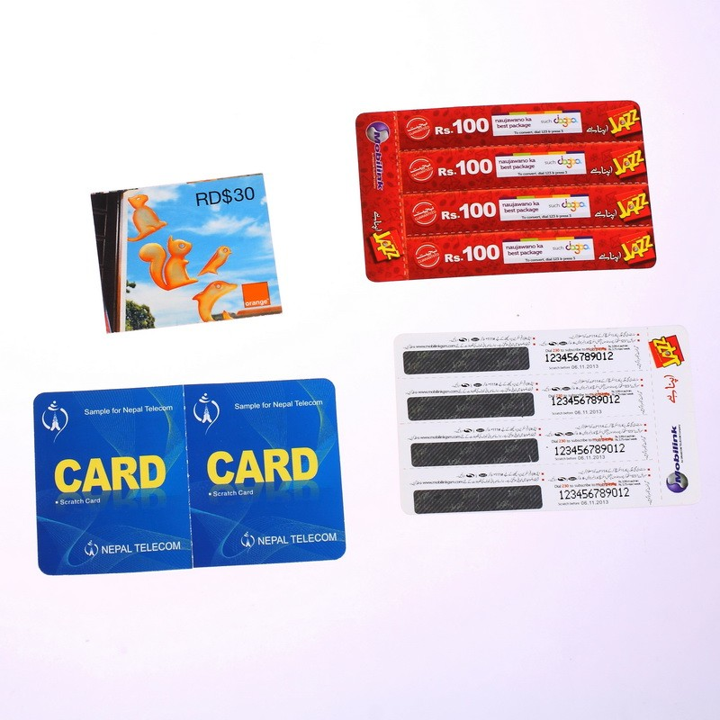 HOT SALE scratch hologram and magnetic ticket paper