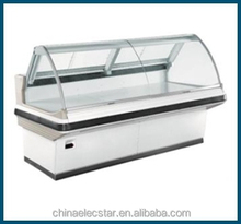 Chiller Service Counter , Supermarket Fresh Meat Showcase, Fresh Meat Display Cabinet