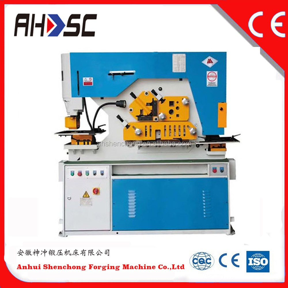 AHSC ironworker machine best quality q35y series wrought iron work