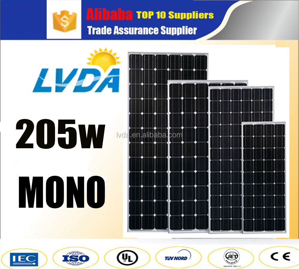 India market mono solar panel 200w 205w 210w 220w cheap price mono solar panel