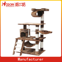 D0031 Luxury Wood Style Indoor Cat House,Cat Trees,Cat Condo