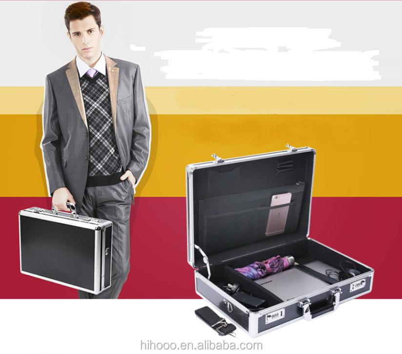 Professionl Custom Portable Aluminum Laptop Briefcase With Compartment