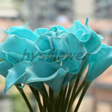 real touch calla lily baby blue mini calla lily