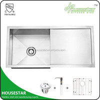 New arrival kitchen sink Handmade Stainless Steel Wash Basin Stand Distributors wanted laundry sink cabinet --- 11646D