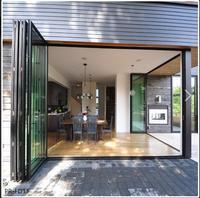 wind proof aluminum garden accordion folding patio doors