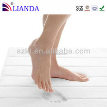 Custom memory foam waterproof anti-slip commercial shower bath mat colorful