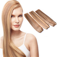 Wholesale Pure Indian Virgin Human Hair Weft, Indian Remy Hair