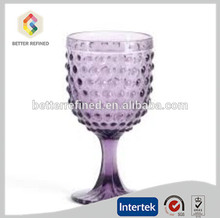 Solid colored hobnial wine glass goblet