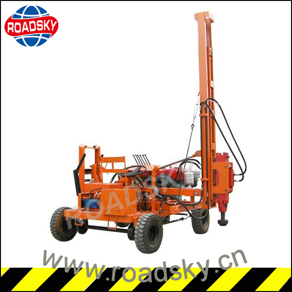 Mini Highway Guardrail Installation Machine Post Driver Over Truck