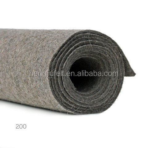 Best selling factory wholesale super gray hard wool Felt for industrial use