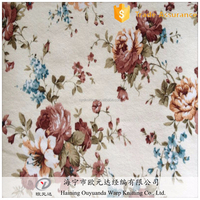 100% polyester knitting printed micro velboa furniture fabric