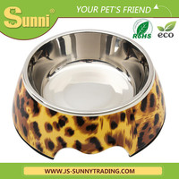 New design melamine stainless steel travel dog bowl