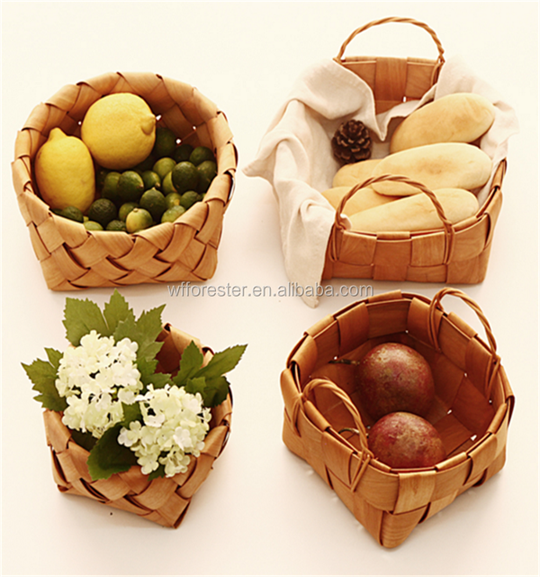 wholesale handmade cheap wooden picnic basket