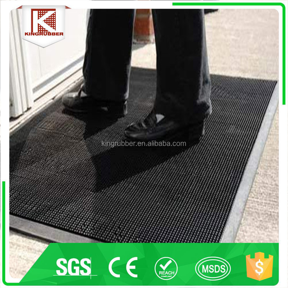 Rubber Finger Scrape Door Mat For Wet and Dry Areas
